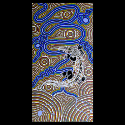 Crocodile and Rainbow Serpent Dreamtime