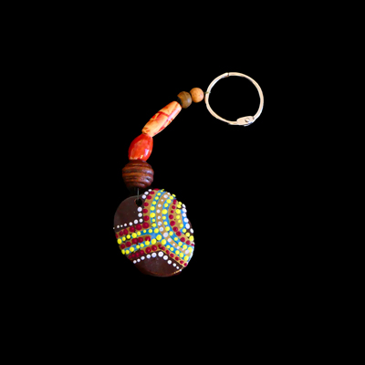 Burnie Bean Keyring - Red Blue and Yellow