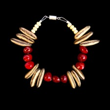 Native Seed Bracelet - Red, Brown and White